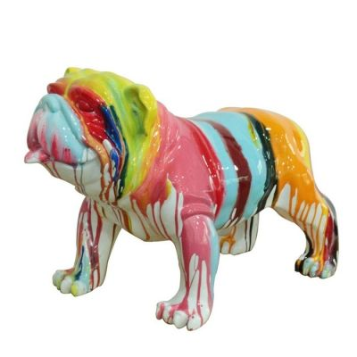 Serie ANIMALES L | Bulldog multicolor
