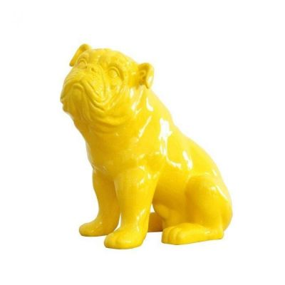 Bulldog amarillo sentado | Serie Animales XS