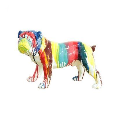 Bulldog multicolor | Serie Animales M