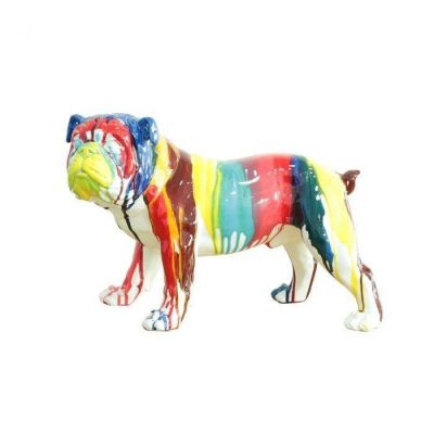 Serie ANIMALES M | Bulldog multicolor