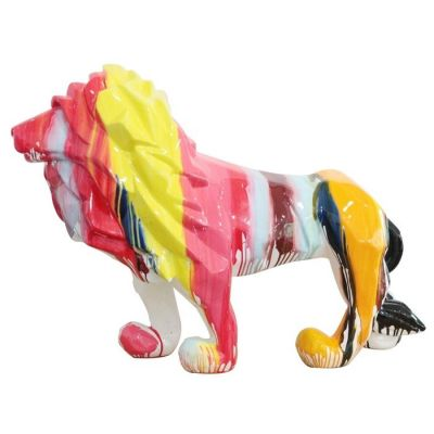 Serie ANIMALES XL | León multicolor