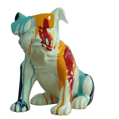 Bulldog multicolor sentado | Serie Animales S