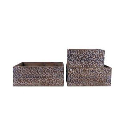 Set 3 cajas de madera | Serie Zan