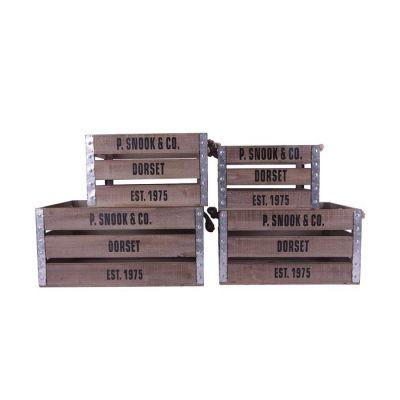 Set 4 cajas de madera | Serie Lome