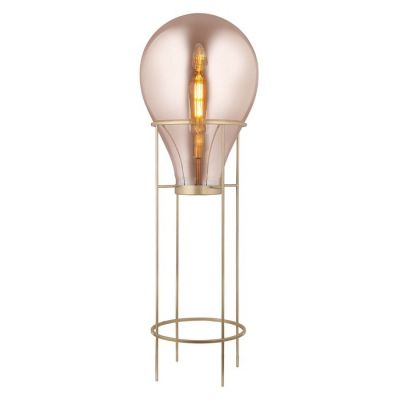 Lámpara de pie (Ø 50 x H 158) | Hatann Ámbar