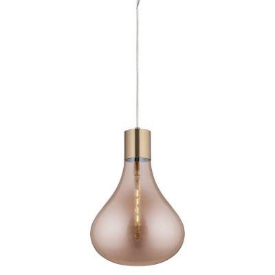 Lámpara colgante cristal Ø 40 | Triz Ámbar