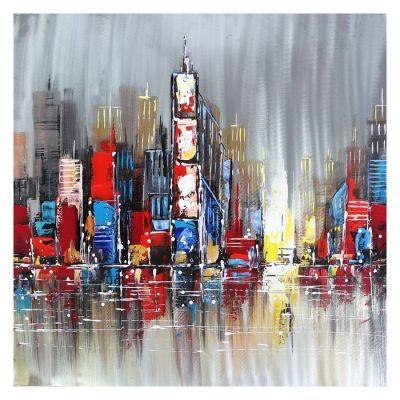 Cuadro rascacielos (100 x 100 cm) | Serie Urbano