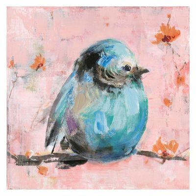 Cuadro gorrión azul (50 x 50 cm) | Serie Animales