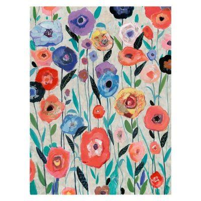 Cuadro flores multicolor (90 x 120 cm) | Serie Abstracto