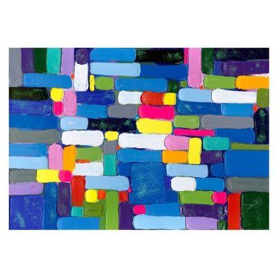 Cuadro abstracto pinceladas horizontales (200 x 140 cm) | Serie Abstracto