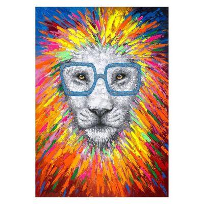 Cuadro abstracto león (140 x 200 cm) | Serie Animales