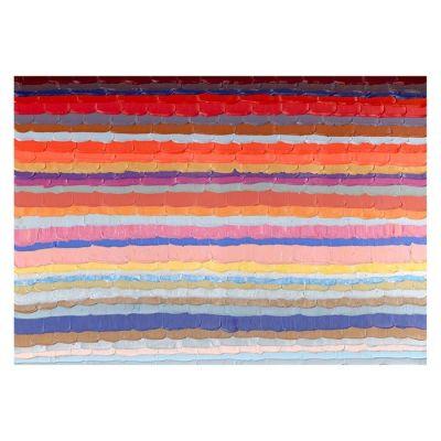 Cuadro abstracto líneas horizontales color (200 x 140 cm)   Serie Abstracto