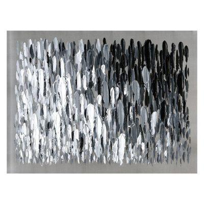 Cuadro abstracto pinceladas blanco y negro (120 x 90 cm)   Serie Abstracto