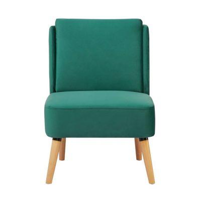 Sillón tapizado verde (61 x 75 x 82 cm) | Serie Dobrant