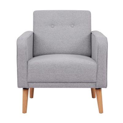 Sillón tapizado gris (70 x 77 x 77 cm) | Serie Noyazu