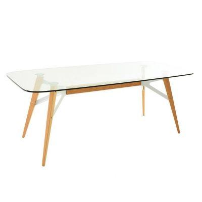 Mesa de comedor con tapa de cristal (200 x 90 x 74´5 cm) | Serie Alop