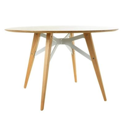 Mesa de comedor redonda. Madera de haya (120 x 74´5 cm) | Serie Jomez