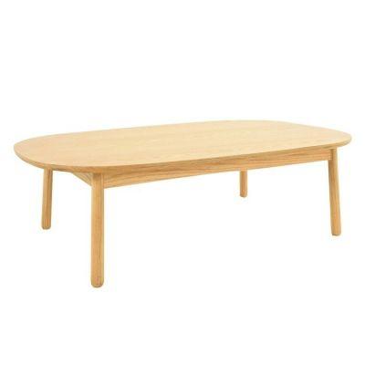 Mesa de centro en madera de fresno (110 x 60 x 32,5 cm) | Serie Lezquer