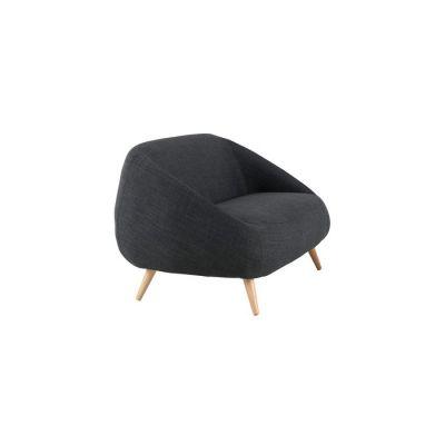 Sillón con brazos tapizado gris oscuro (83,5 x 82,5 x 75,5 cm) | Serie Marpe