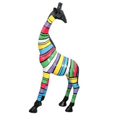 Jirafa con rayas multicolor | Serie Animales XL