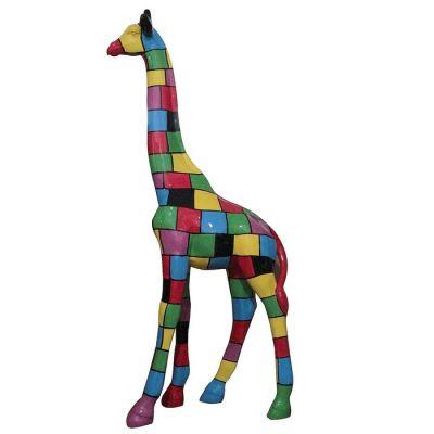 Jirafa con cuadrados multicolor | Serie Animales XL
