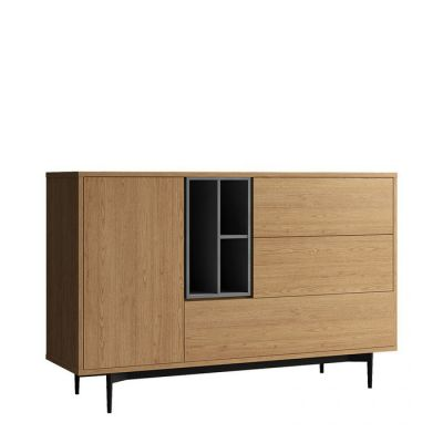 ONNIE Grey | Mueble aparador (145,3 x 39,6 x 95 cm)