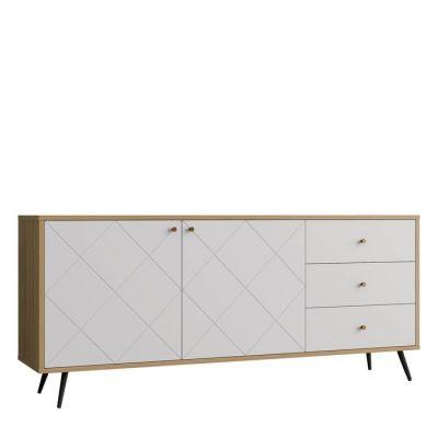 UKKO White | Mueble aparador (176,2 x 39,6 x 76,6 cm)