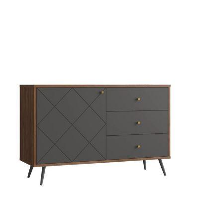 UKKO Grey | Mueble aparador (118,2 x 39,6 x 76,6 cm)